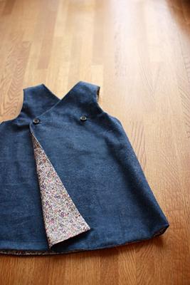 リバーシブルジャンパースカート/小さくてもきちんとした服